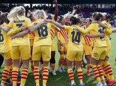 A la imatge, el FC Barcelona, campió de la Lliga 2019/2020, celebrant la victòria. (Ana Jiménez / FCB)