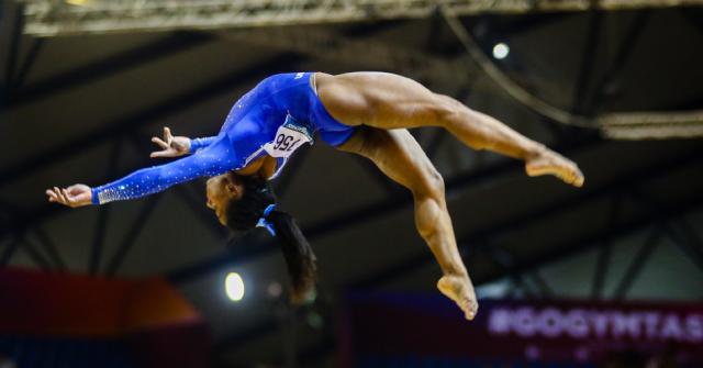 La gimnasta Simone Biles durant una competició.